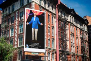 apartment billboard of Dallas magician MrGoodfriend