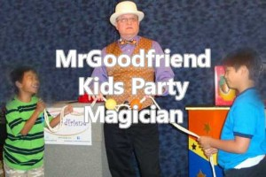 boys love magic in Dallas party