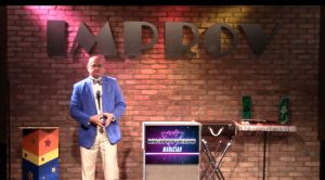 party magician MrGoodfriend performs at the Arlington Improv