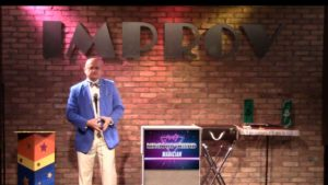 Dallas party magician MrGoodfriend at the Improv comedy club
