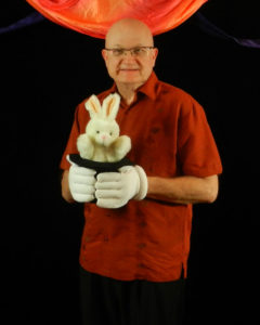 magic bunny puppet with MrGoodfriend Frisco magician
