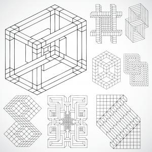 MC Escher hexaflexagram